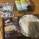 もち麦10袋、永谷園お吸い物20袋