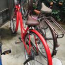 赤色の自転車 7/25まで早期引き取り