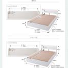ベッド ほぼほぼ未使用 マットレス付き