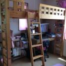 【取引中】ロフトベッド  木製  システムベッド