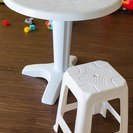 ガーデンテーブル (椅子付き)