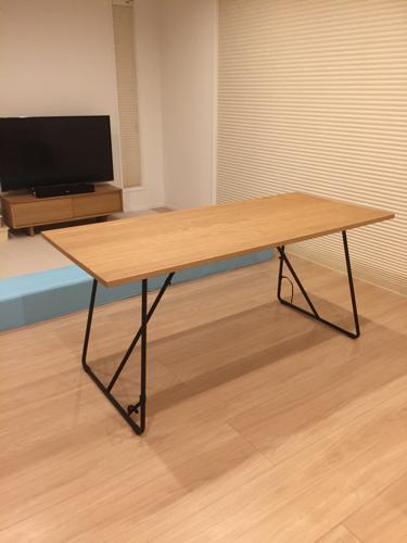 無印良品 折りたたみダイニングテーブルの画像