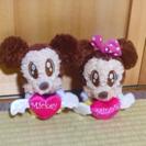 ミッキー&ミニーのぬいぐるみ2個セット