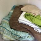 【連休限定値下げ】無印 収納付ダブルベッド マットレス・布団・カバー等セット - 家具