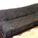 ソファーベッド 深緑色 引き出し 2個付き