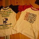 子供服 2枚セットTシャツ