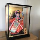 日本人形 春駒 ガラスケース入り