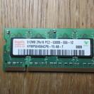 ノートパソコン用メモリー512M DDR2  送料込み200円
