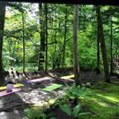 軽井沢ヨガ 涼の音カフェで「朝の深呼吸ヨガ」の画像