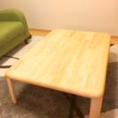 【値下げ】ニトリ 折りたたみテーブル 天然木