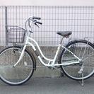 26インチ 軽快自転車  ホワイト 故障箇所なし 普通に乗れます...