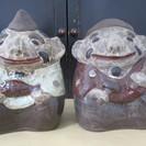 大黒、恵比寿の陶器の置物