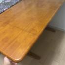 予約中 ダイニングテーブルセット 回れる椅子2 客付き