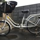 【取引終了】子ども乗せ自転車◆中古(2015年購入)