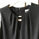 上品な黒ラメロングドレス