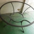 業務用アルミ脚カラス天板 宴会用 円形 テーブル