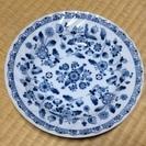 青い柄のカレー皿2枚