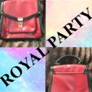 【ROYAL PARTY】ハンドバッグ(赤×黒)
