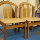 【値下げ!】ナチュラルカラーの木製ダイニングテーブルセット(解体・...
