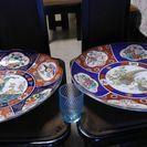 てんぼようグラス、20こ、65-90薄い水色大皿420中皿410