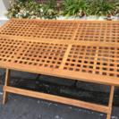 折りたたみ可能、木製テーブル