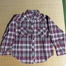 子供用 チェックシャツ