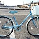 22インチの自転車 ブルー