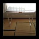 ニトリ テーブル ガラス 白 木製