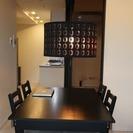 『IKEA ダイニングテーブル&イス4脚セット IKEAライトもサ...