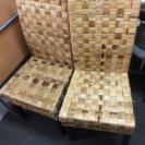 バリ風椅子、2個