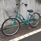 26型 シーグリーン 自転車 6段変速