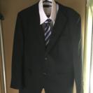 ビジネススーツ上下 メンズ ネクタイ シャツ2枚付き 試着のみ