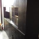 【売切れ】両面使える木製キッチンボード・食器棚 漆塗り特注の高級品...