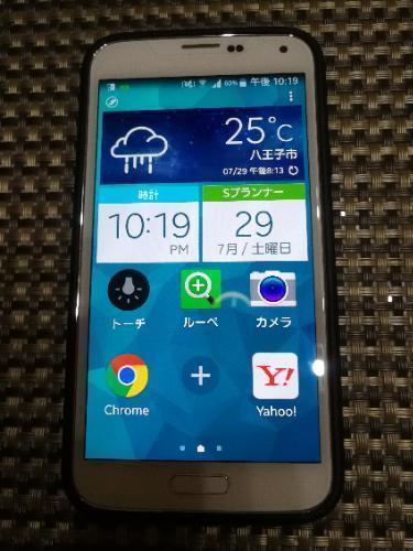 au SCL23 Galaxy S5中古譲ります...