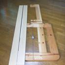木製組立式シングルベッド
