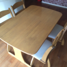 ニトリのダイニングテーブル(回転椅子4脚付き)