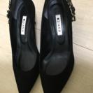 ★ダイアナ、パンプス、靴、黒、可愛い、オシャレ、24 1/2G