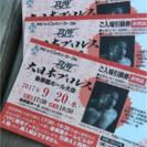 二枚分。三千円‼️一枚 1500円〜大日本プロレス    チケット...