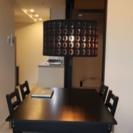ダイニングテーブル 椅子×2脚ライトセット☆