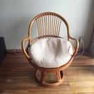 一人掛けの籐椅子 ※8/14 10時まで
