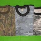 迷彩柄 Tシャツ(3枚)