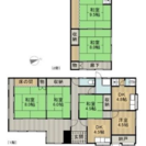 羽犬塚駅 二階建て一軒家(戸建て) 賃貸6LDK 駐車場数台 DI...