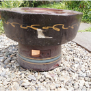 火鉢 陶器製 現状渡し 差し上げます