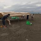 キャンプ設営・撤収、サポート