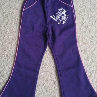 100㌢紫の裏起毛ズボン 新品