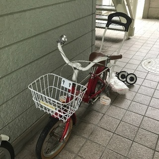 幼児用自転車 荷台、アシストバー 、補助輪