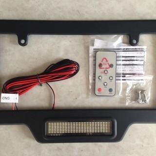 【未使用】カスタム車用 LED文字設定可能ナンバープレートフレーム