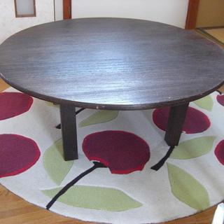 桐製円形座卓