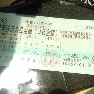 青春18きっぷ3回分