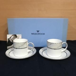 未使用ウェッジウッドGUINEVEREカップ&ソーサー2客セット